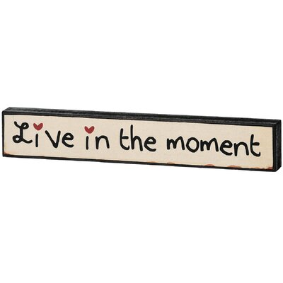 Hill Interiors Live in The Moment Typography Plaque
