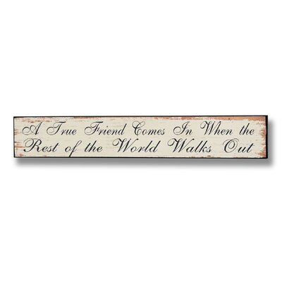 Hill Interiors A True Friend Typography Plaque