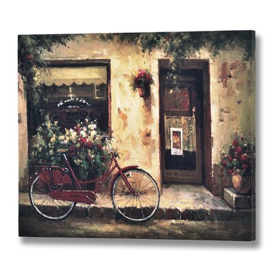Hill Interiors Bicycle Art Print on Canvas