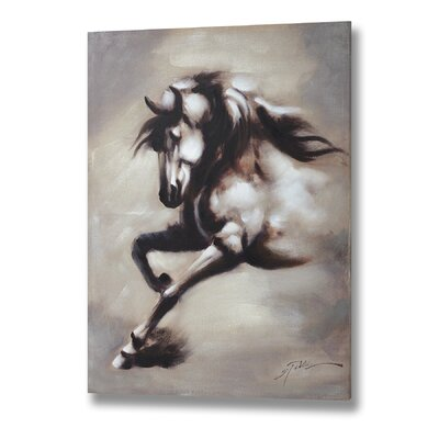 Hill Interiors Prancing Horse Original Painting on Canvas