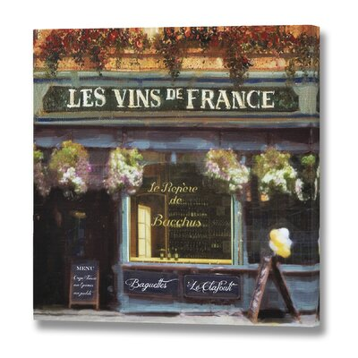 Hill Interiors Les Vins De France Art Print on Canvas