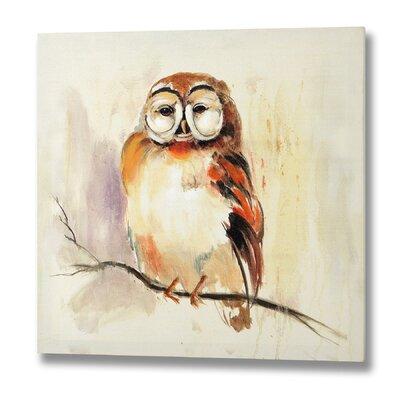 Hill Interiors Owl Original Painting on Canvas