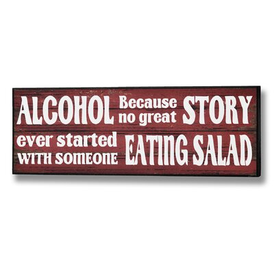 Hill Interiors Alcohol and Salad Typography Plaque