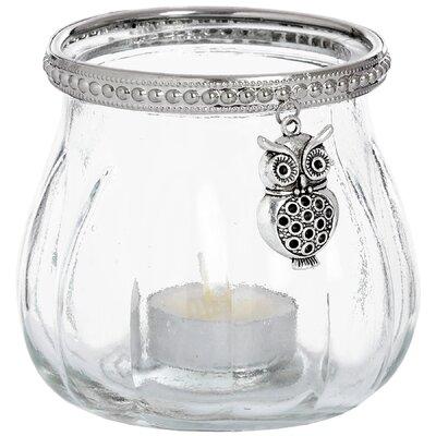 Hill Interiors Owl Glass Tealight Votive