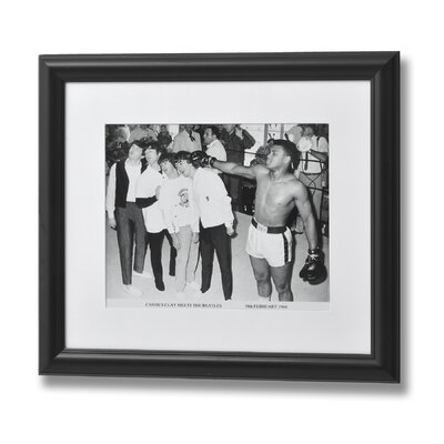 Hill Interiors Cassius Clay Meets The Beatles Framed Photographic Print