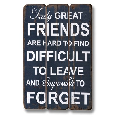 Hill Interiors Truly Great Friends Typography Plaque