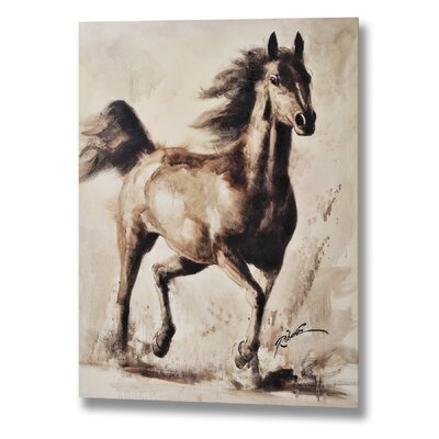 Hill Interiors Spooked Horse Original Painting on Canvas