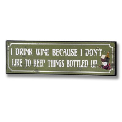 Hill Interiors LED I Don't Like to Keep Things Bottled up Typography Plaque
