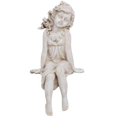Hill Interiors Seated Fairy Shelf Sitter Figurine