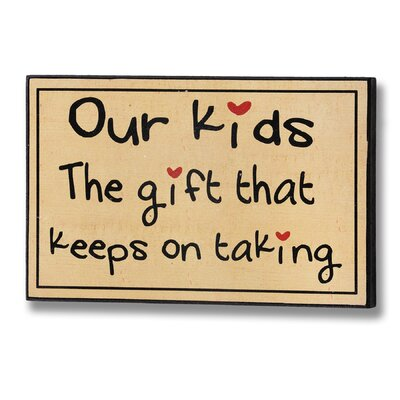 Hill Interiors Kids Typography Plaque