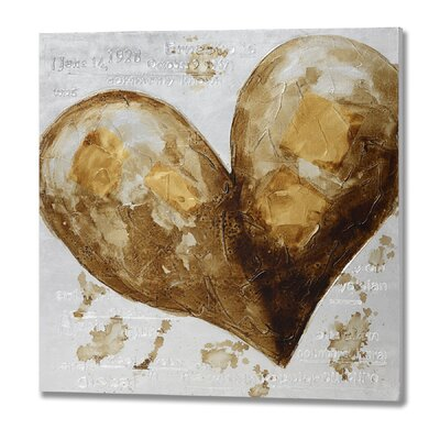 Hill Interiors Heart Graphic Art on Canvas