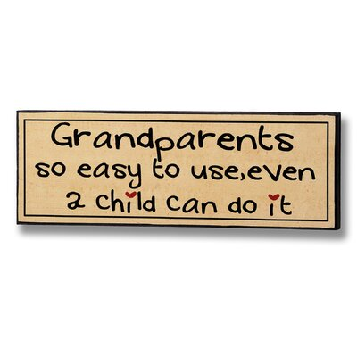 Hill Interiors Grandparents So Easy to Use Typography Plaque