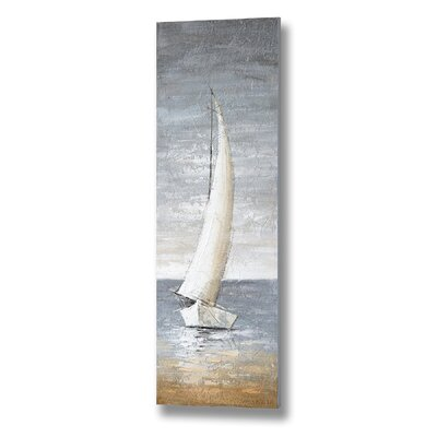 Hill Interiors Tall Sailing Boat Art Print on Canvas