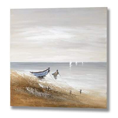 Hill Interiors Beached Boats Art Print on Canvas