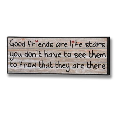Hill Interiors Good Friends Typography Plaque