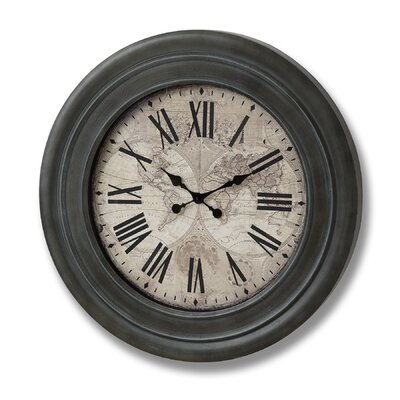 Hill Interiors Oversized 78cm World Clock