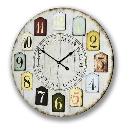 Hill Interiors Oversized 60cm Good Times With Good Friends Clock