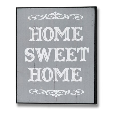 Hill Interiors Home Sweet Home Typography Plaque