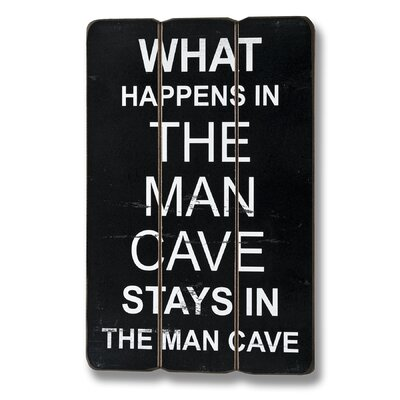 Hill Interiors The Man Cave Plank Style Typography Plaque