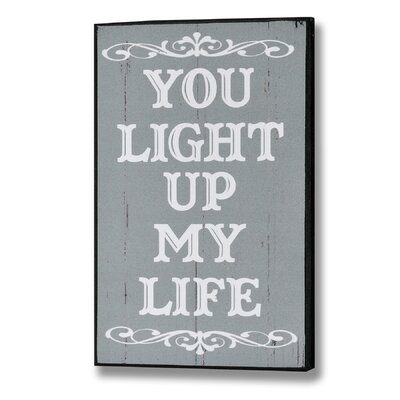 Hill Interiors You Light Up My Life Typography Plaque
