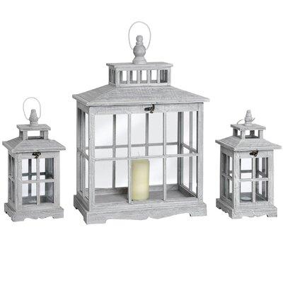 Hill Interiors 3 Piece Lantern Set