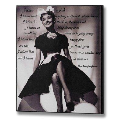 Hill Interiors Audrey Hepburn I Graphic Art Plaque