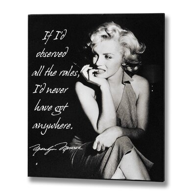 Hill Interiors Marilyn Monroe Got Anywhere Photographic Print Plaque