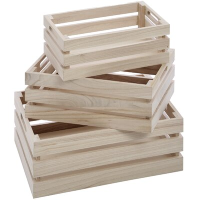 Hill Interiors 3 Piece Crate Set