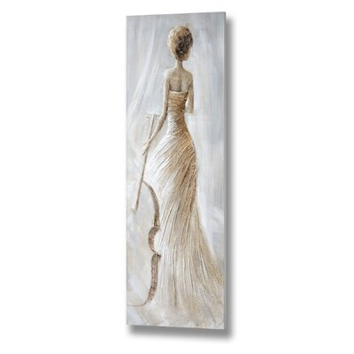 Hill Interiors Lady with Cello Art Print on Canvas