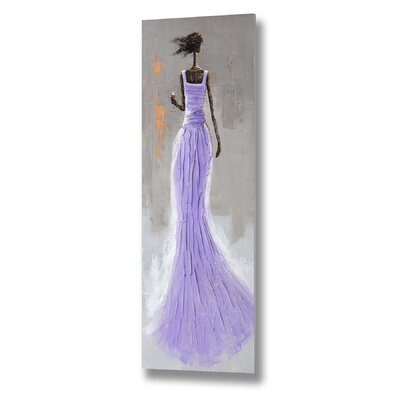 Hill Interiors Lady with Glass of Wine Art Print on Canvas