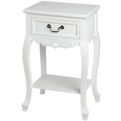 Hill Interiors Essence 1 Drawer Bedside Table