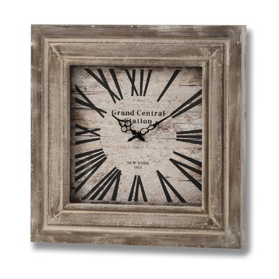 Hill Interiors Grand Central Station Square Wooden Clock