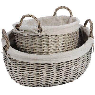 Hill Interiors 2 Piece Wicker Basket Set