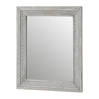 Hill Interiors Washed Wooden Rectangular Wall Mirror