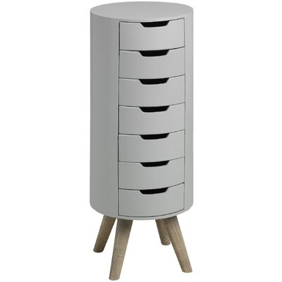 Hill Interiors Contour 7 Drawer Chest of Drawers