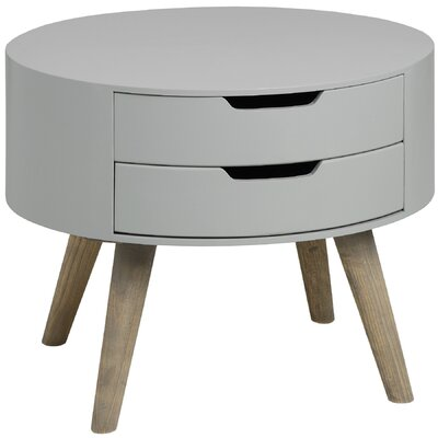 Hill Interiors Contour 2 Drawer Bedside Table