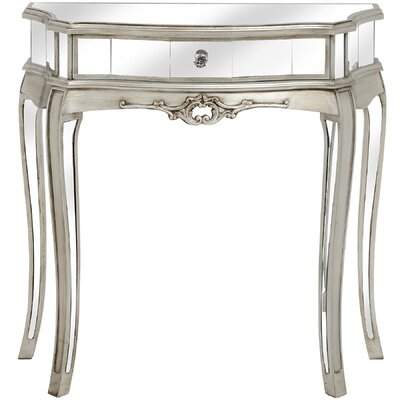 Hill Interiors Argente Mirrored One Drawer Half Moon Console