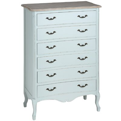 Hill Interiors Duck Egg Blue 6 Drawer Chest