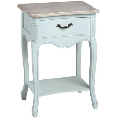 Hill Interiors Duck Egg Blue 1 Drawer Bedside Table