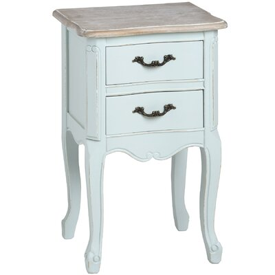 Hill Interiors Duck Egg Blue Two Drawer Bedside