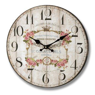 Hill Interiors 34cm Parfums Aux Fleurs Wall Clock