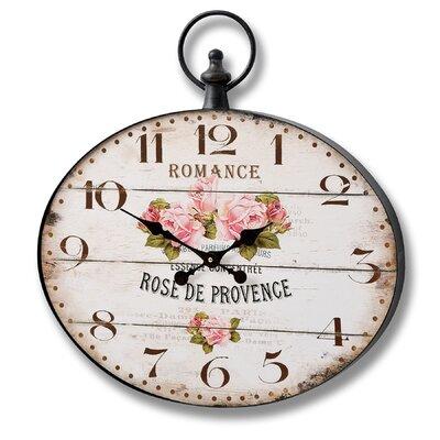 Hill Interiors Rose De Provence Oval Wall Clock