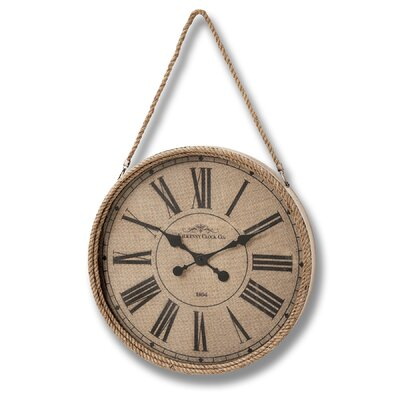 Hill Interiors Kilkenny Oversized 63.5cm Rope Clock