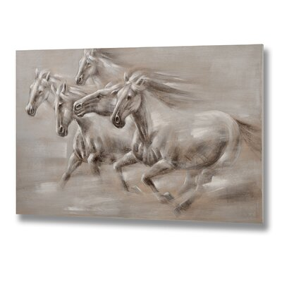 Hill Interiors Wild Horse Oil Art Print Unwrapped on Canvas
