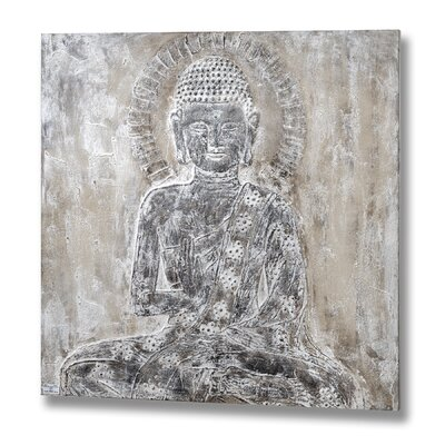Hill Interiors Buddha Oil Graphic Art Unwrapped on Canvas