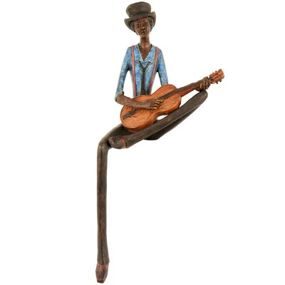 Hill Interiors Sitting Jazz Band Strings Figurine