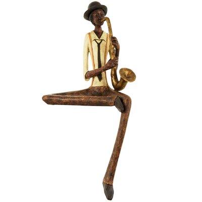 Hill Interiors Sitting Jazz Band Saxophonist Figurine