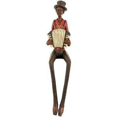 Hill Interiors Sitting Jazz Band Squeeze Box Figurine