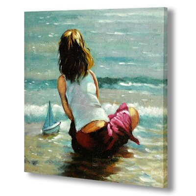 Hill Interiors Girl at Water Edge Art Print on Canvas