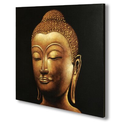 Hill Interiors Buddha Original Painting on Canvas in Gold